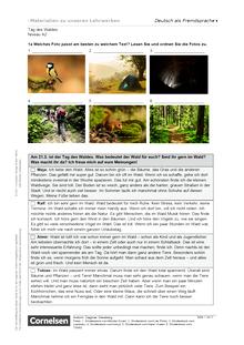 Tag des Waldes (A2) - Arbeitsblatt