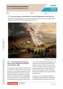 """Die Amerikanische Revolution – eine """"schicksalhafte Bestimmung""""? - Arbeitsblatt mit Lösungen"""