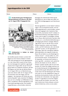Jugendopposition in der DDR - Arbeitsblatt mit Lösungen