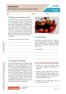 Osterbräuche: Wie Osterhasen und Ostereier populär wurden - Arbeitsblatt mit Lösungen