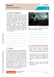 Netiquette - Regeln für den Klassenchat - Arbeitsblatt mit Lösungen
