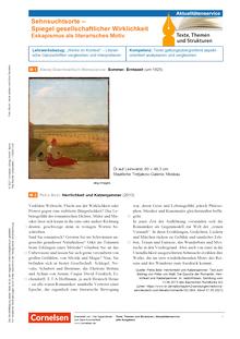 Texte, Themen und Strukturen - Sehnsuchtsorte - Spiegel gesellschaftlicher Wirklichkeit. Eskapismus als literarisches Motiv - Kopiervorlagen mit Materialien, Aufgaben, didaktischen Hinweisen sowie Lösungen