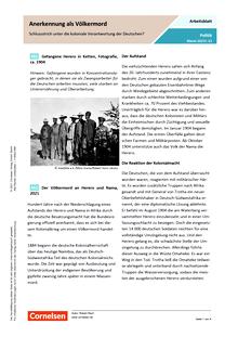 Anerkennung als Völkermord - Schlussstrich unter die koloniale Verantwortung der Deutschen? - Arbeitsblatt mit Lösungen