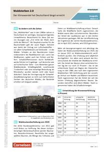 Waldsterben 2.0 - Der Klimawandel hat Deutschland längst erreicht - Arbeitsblatt mit Lösungen