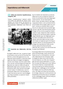 Imperialismus und Völkerrecht - Arbeitsblatt mit Lösungen