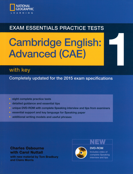 Exam Essentials Practice Tests - Practice Tests 1 - Practice Tests with Key and DVD-ROM - Cambridge English: Advanced (CAE)