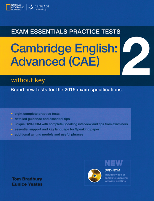 Exam Essentials Practice Tests - Practice Tests 2 - Practice Tests without Key, with DVD-ROM - Cambridge English: Advanced (CAE)