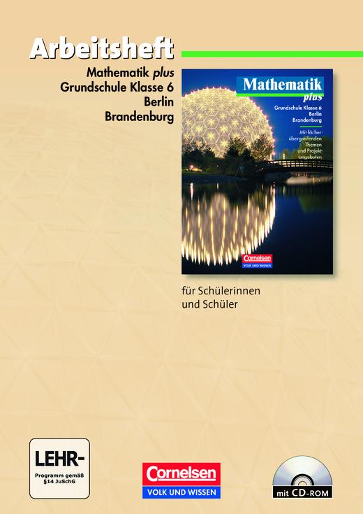 Mathematik plus - Arbeitsheft mit eingelegten Lösungen und CD-ROM - 6. Schuljahr
