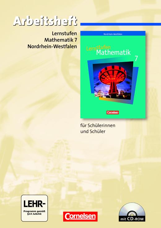 Lernstufen Mathematik - Arbeitsheft mit eingelegten Lösungen und CD-ROM - 7. Schuljahr