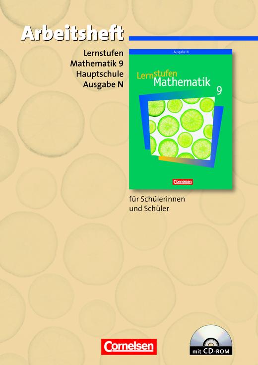 Lernstufen Mathematik - Arbeitsheft mit eingelegten Lösungen und CD-ROM - 9. Schuljahr