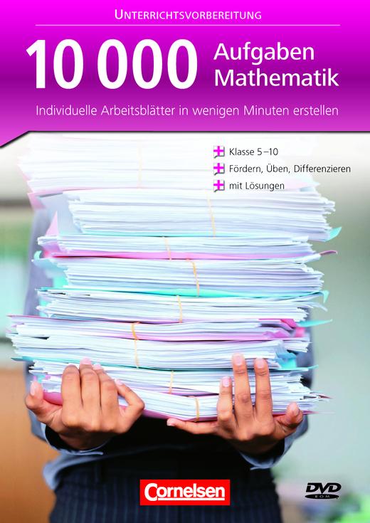 Mathematik Aufgabendatenbank - 10000 Aufgaben Mathematik - Individuelle Arbeitsblätter erstellen - DVD-ROM
