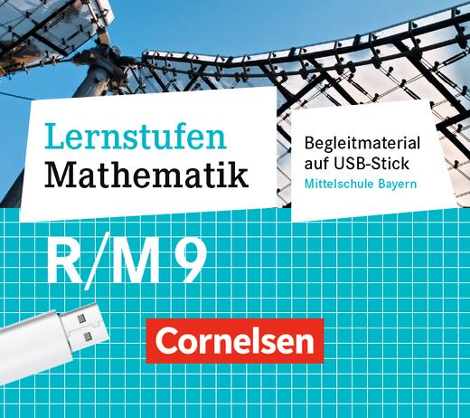 Lernstufen Mathematik - Unterrichtsmanager Plus auf USB-Stick - Für R- und M-Klassen - 9. Jahrgangsstufe