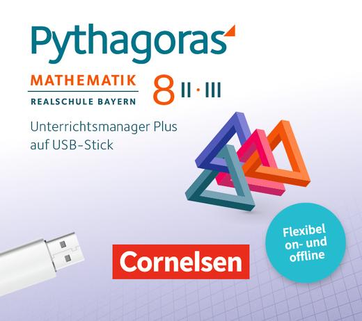 Pythagoras - Unterrichtsmanager Plus auf USB-Stick - 8. Jahrgangsstufe (WPF II/III)