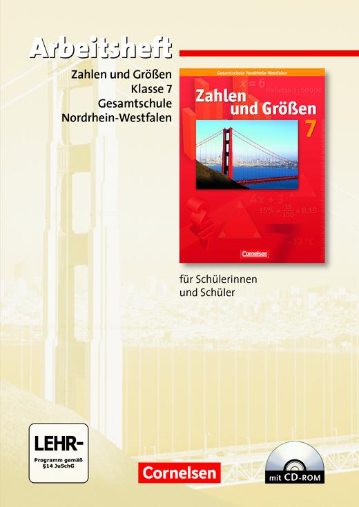 Zahlen und Größen - Arbeitsheft mit eingelegten Lösungen und CD-ROM - 7. Schuljahr
