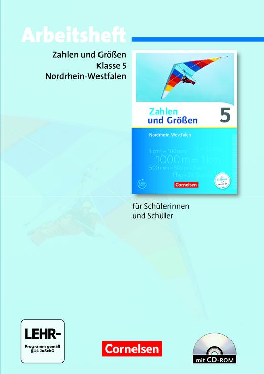Zahlen und Größen - Arbeitsheft mit eingelegten Lösungen und CD-ROM - 5. Schuljahr