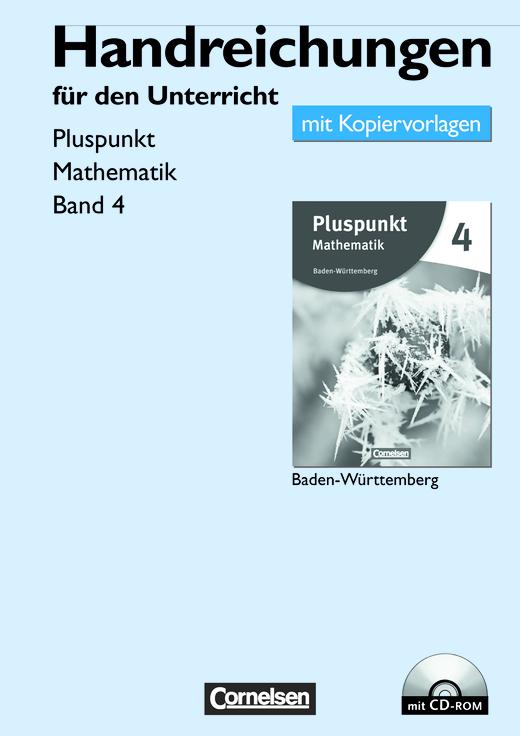 Pluspunkt Mathematik - Handreichungen für den Unterricht, Kopiervorlagen mit CD-ROM - Band 4