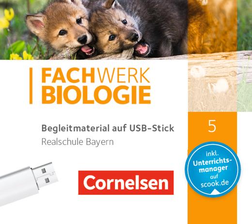 Fachwerk Biologie - Begleitmaterial auf USB-Stick - 5. Jahrgangsstufe