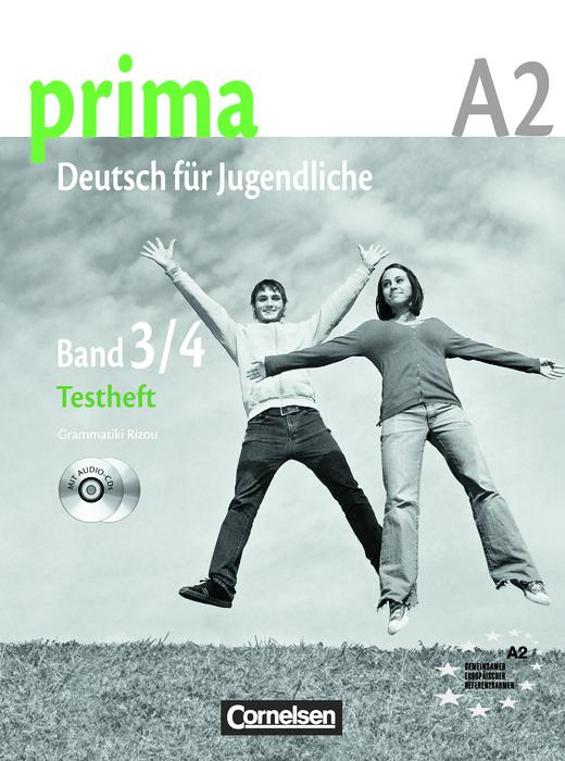 """Prima - Deutsch für Jugendliche - Testheft mit Modelltest """"Fit in Deutsch 2"""" - A2: Band 3 und 4"""