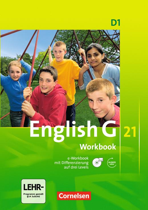 English G 21 - Workbook mit CD-ROM und Audios online - Band 1: 5. Schuljahr