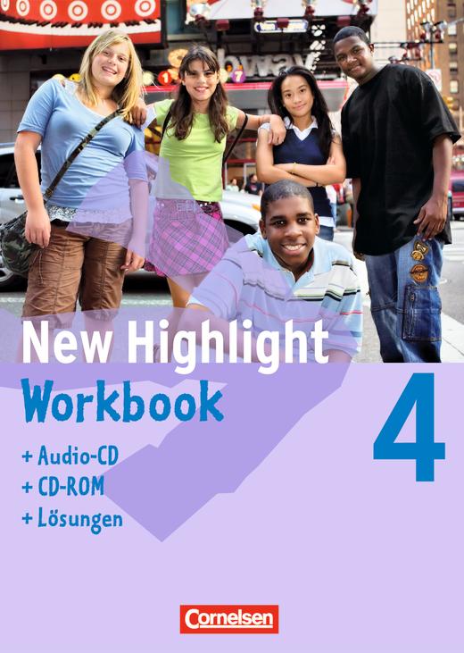 New Highlight - Workbook - Lehrerfassung (mit CD-ROM und Text-CD) - Band 4: 8. Schuljahr
