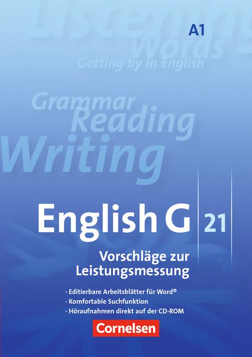 English G 21 - Leistungsmessung - CD-Extra (CD-ROM und CD auf einem Datenträger) - Band 1: 5. Schuljahr