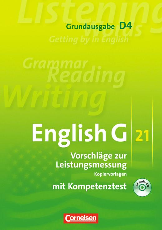 English G 21 - Vorschläge zur Leistungsmessung - Kopiervorlagen mit CD - Band 4: 8. Schuljahr