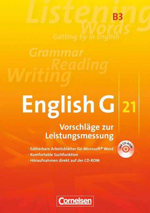 English G 21 - Leistungsmessung - CD-Extra (CD-ROM und CD auf einem Datenträger) - Band 3: 7. Schuljahr