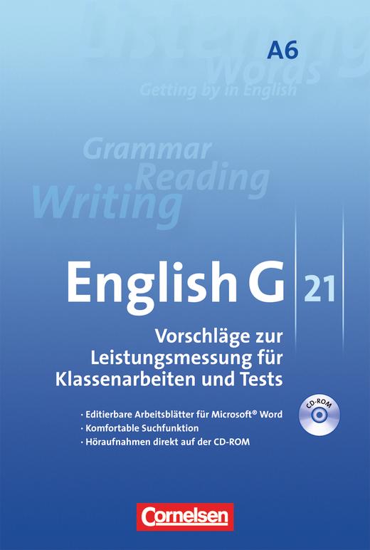 English G 21 - Leistungsmessung - CD-ROM mit Höraufnahmen - Abschlussband 6: 10. Schuljahr - 6-jährige Sekundarstufe I