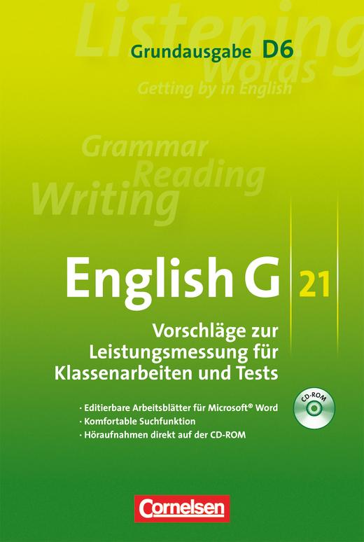 English G 21 - Leistungsmessung - CD-ROM mit Höraufnahmen - Band 6: 10. Schuljahr