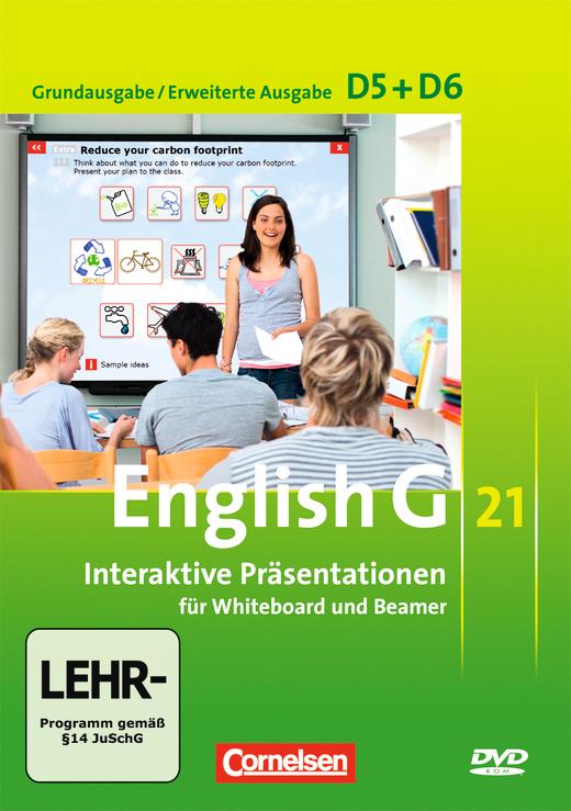 English G 21 - Interaktive Präsentationen für Whiteboard und Beamer - DVD-ROM - Band 5/6: 9./10. Schuljahr