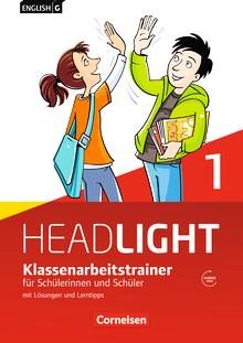 English G Headlight - Klassenarbeitstrainer mit Lösungen und Audios online - Band 1: 5. Schuljahr