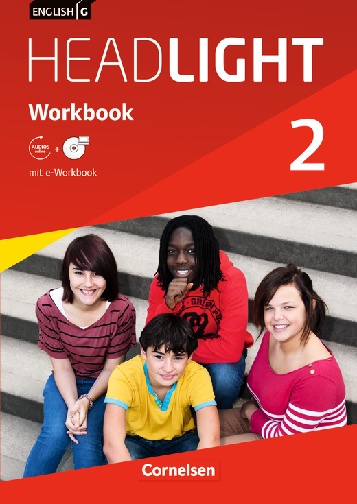 English G Headlight - Workbook mit CD-ROM (e-Workbook) und Audios online - Band 2: 6. Schuljahr