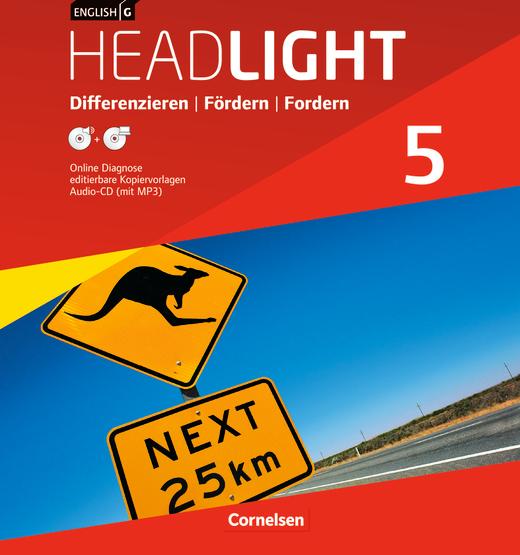 English G Headlight - Differenzieren, Fördern, Fordern - Kopiervorlagen mit Lösungen im Ordner - Band 5: 9. Schuljahr