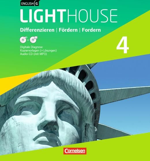 English G Lighthouse - Differenzieren, Fördern, Fordern - Kopiervorlagen mit Lösungen im Ordner - Band 4: 8. Schuljahr
