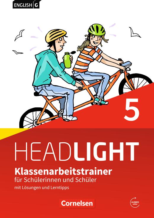 English G Headlight - Klassenarbeitstrainer mit Lösungen und Audios online - Band 5: 9. Schuljahr