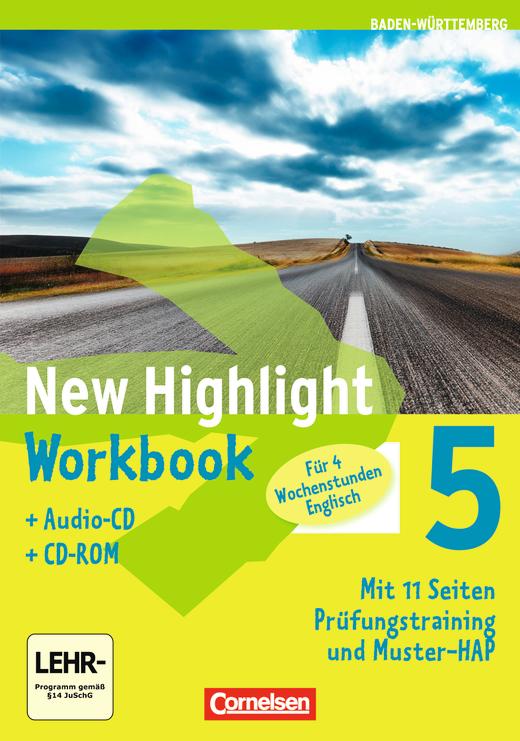 New Highlight - Werkrealschulen (4 Wochenstunden) - Workbook mit CD-ROM und Lieder-/Text-CD - Band 5: 9. Schuljahr