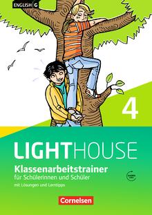 English G Lighthouse - Klassenarbeitstrainer mit Lösungen und Audios online - Band 4: 8. Schuljahr