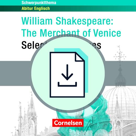 Schwerpunktthema Abitur Englisch - The Merchant of Venice - Lösungsvorschläge zur Textsammlung als Download