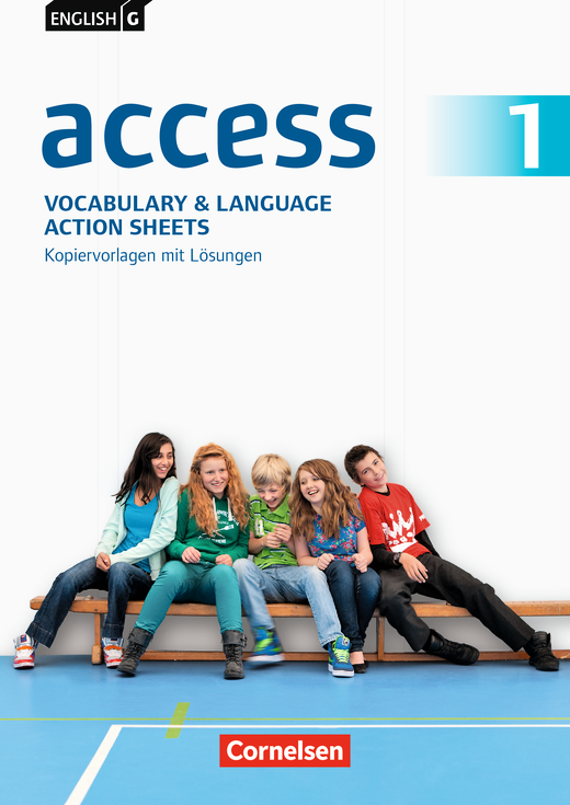 English G Access - Vocabulary and Language Action Sheets - Kopiervorlagen mit Lösungen - Band 1: 5. Schuljahr