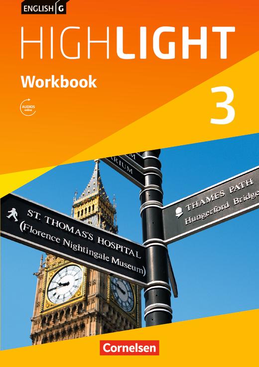 English G Highlight - Workbook mit Audios online - Band 3: 7. Schuljahr
