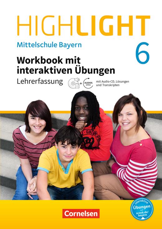Highlight - Workbook mit interaktiven Übungen auf scook.de - Lehrerfassung - 6. Jahrgangsstufe