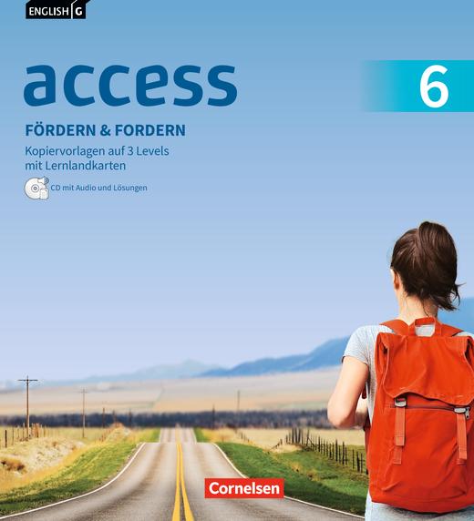 English G Access - Fördern & Fordern - Fördermaterialien mit Audio und Lösungen auf CD im Ordner - Band 6: 10. Schuljahr