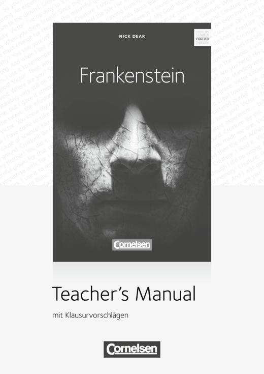 Cornelsen Senior English Library - Frankenstein - Bühnenadaption - Teacher's Manual mit Audio-CD und Klausurvorschlägen - Ab 11. Schuljahr