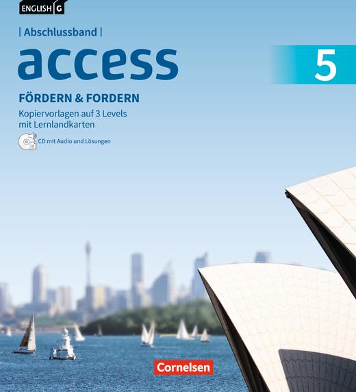 English G Access - Fördern & Fordern - Fördermaterialien mit Audio und Lösungen auf CD im Ordner - Abschlussband 5: 9. Schuljahr