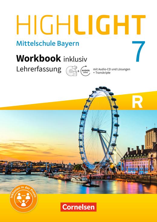 Highlight - Workbook inklusiv mit CD-Extra und Audios online - Lehrerfassung - 7. Jahrgangsstufe