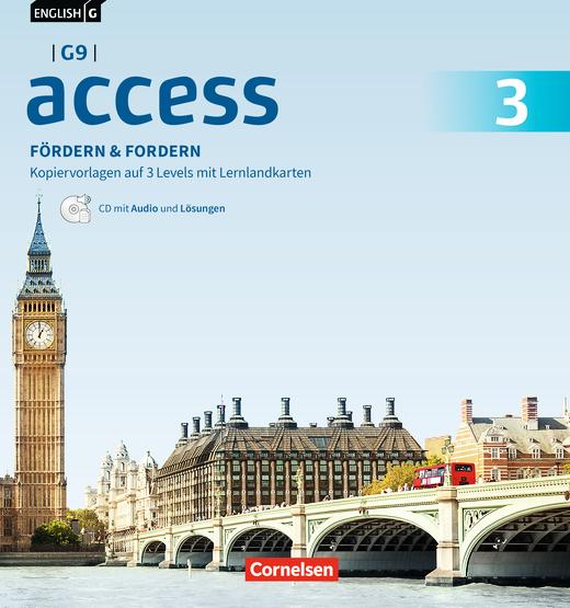English G Access - Fördern & Fordern - Fördermaterialien mit Audios und Lösungen auf CD im Ordner - Band 3: 7. Schuljahr