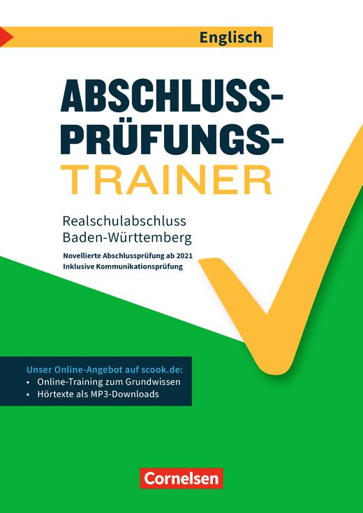 Abschlussprüfungstrainer Englisch - Realschulabschluss (WET) - Arbeitsheft mit Lösungen und Online-Training Grundwissen (2. Auflage) - 10. Schuljahr