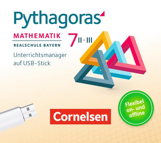 Pythagoras - Unterrichtsmanager Plus auf USB-Stick - 7. Jahrgangsstufe (WPF II/III)