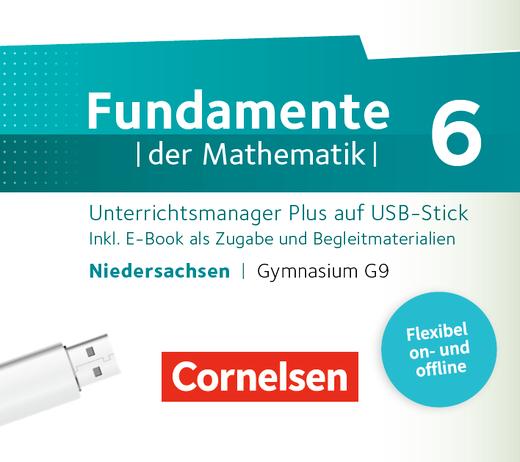 Fundamente der Mathematik - Unterrichtsmanager Plus auf USB-Stick - 6. Schuljahr