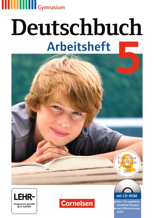 Deutschbuch Gymnasium - Arbeitsheft mit Lösungen und Übungs-CD-ROM - 5. Schuljahr